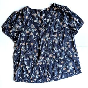 *NWOT* LUCKY BRAND Floral Blouse with Buttons